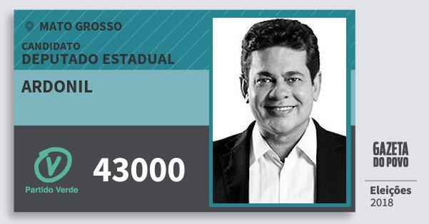 Santinho Ardonil 43000 (PV) Deputado Estadual   Mato Grosso   Eleições 2018