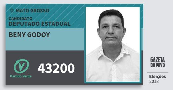 Santinho Beny Godoy 43200 (PV) Deputado Estadual | Mato Grosso | Eleições 2018