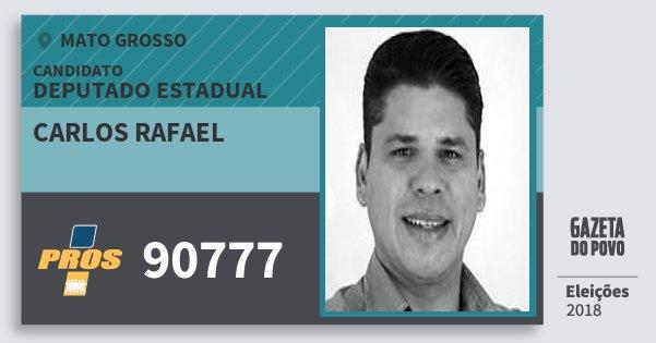 Santinho Carlos Rafael 90777 (PROS) Deputado Estadual | Mato Grosso | Eleições 2018