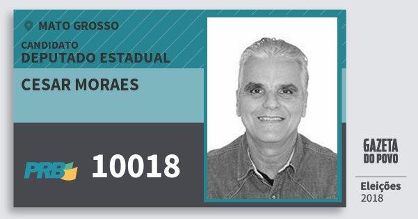Santinho Cesar Moraes 10018 (PRB) Deputado Estadual | Mato Grosso | Eleições 2018