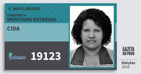 Santinho Cida 19123 (PODE) Deputada Estadual | Mato Grosso | Eleições 2018
