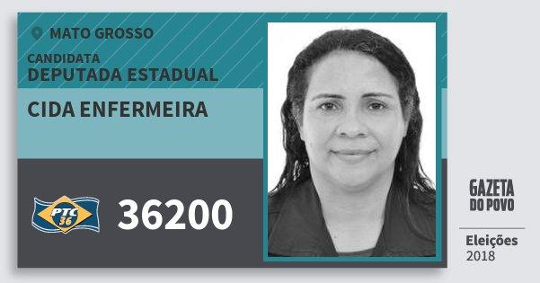 Santinho Cida Enfermeira 36200 (PTC) Deputada Estadual | Mato Grosso | Eleições 2018