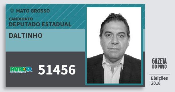 Santinho Daltinho 51456 (PATRI) Deputado Estadual | Mato Grosso | Eleições 2018