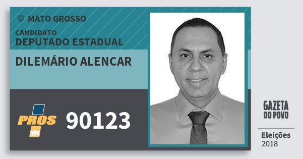 Santinho Dilemário Alencar 90123 (PROS) Deputado Estadual | Mato Grosso | Eleições 2018