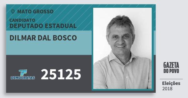 Santinho Dilmar dal Bosco 25125 (DEM) Deputado Estadual | Mato Grosso | Eleições 2018