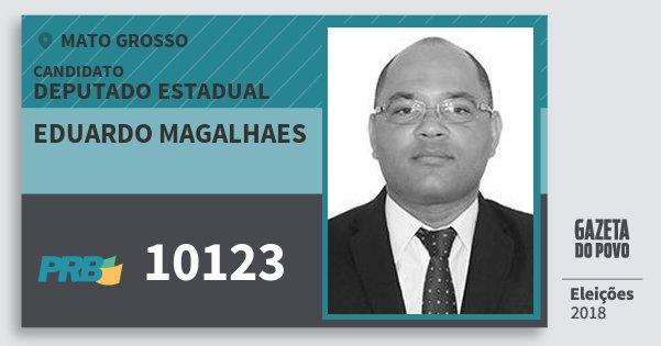 Santinho Eduardo Magalhaes 10123 (PRB) Deputado Estadual | Mato Grosso | Eleições 2018