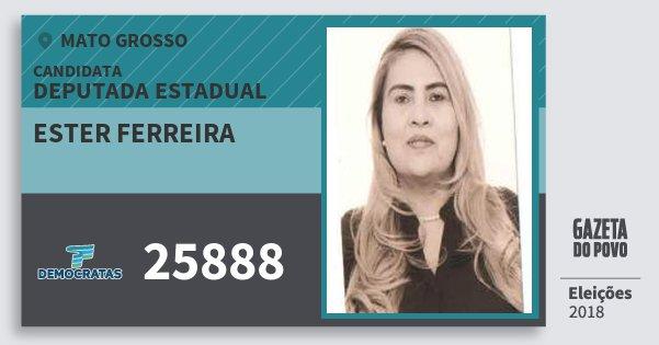 Santinho Ester Ferreira 25888 (DEM) Deputada Estadual   Mato Grosso   Eleições 2018