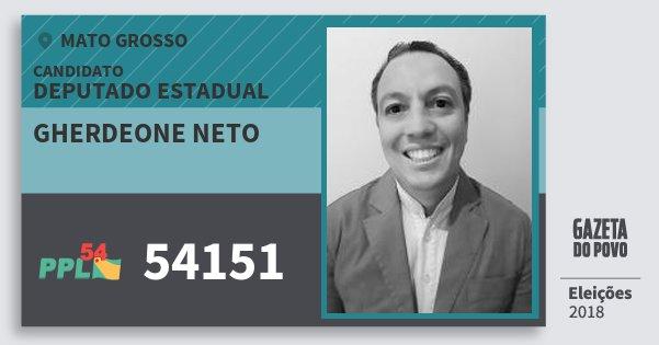 Santinho Gherdeone Neto 54151 (PPL) Deputado Estadual | Mato Grosso | Eleições 2018