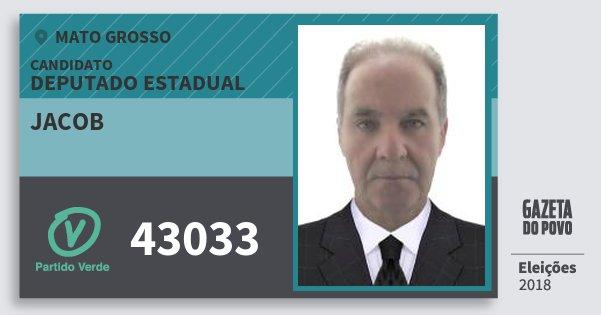 Santinho Jacob 43033 (PV) Deputado Estadual | Mato Grosso | Eleições 2018