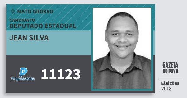 Santinho Jean Silva 11123 (PP) Deputado Estadual | Mato Grosso | Eleições 2018