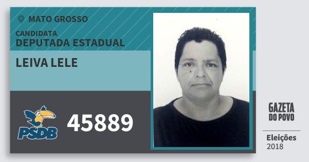 Santinho Leiva Lele 45889 (PSDB) Deputada Estadual | Mato Grosso | Eleições 2018