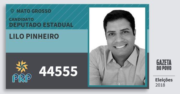 Santinho Lilo Pinheiro 44555 (PRP) Deputado Estadual   Mato Grosso   Eleições 2018