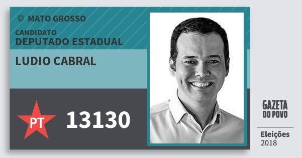 Santinho Ludio Cabral 13130 (PT) Deputado Estadual | Mato Grosso | Eleições 2018