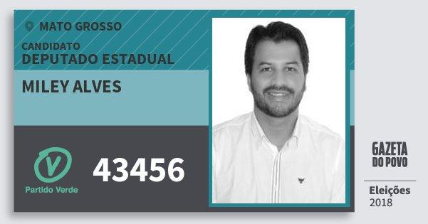 Santinho Miley Alves 43456 (PV) Deputado Estadual | Mato Grosso | Eleições 2018