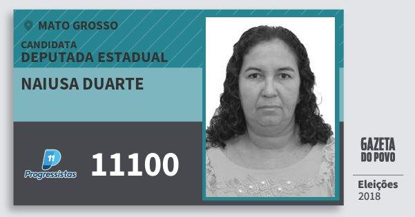 Santinho Naiusa Duarte 11100 (PP) Deputada Estadual | Mato Grosso | Eleições 2018