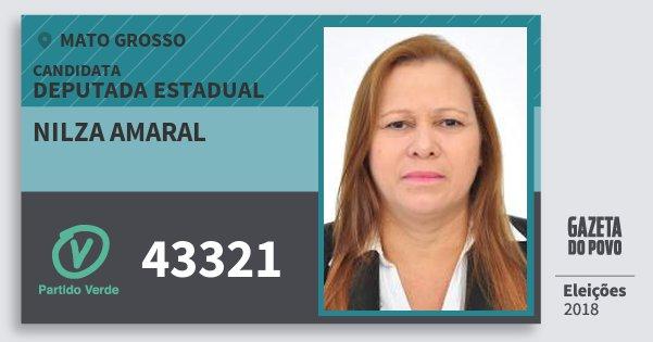 Santinho Nilza Amaral 43321 (PV) Deputada Estadual | Mato Grosso | Eleições 2018