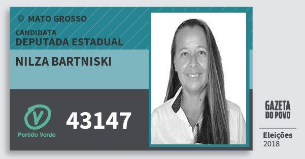 Santinho Nilza Bartniski 43147 (PV) Deputada Estadual | Mato Grosso | Eleições 2018