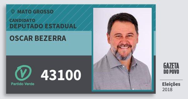 Santinho Oscar Bezerra 43100 (PV) Deputado Estadual | Mato Grosso | Eleições 2018
