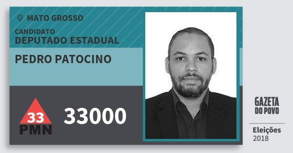 Santinho Pedro Patocino 33000 (PMN) Deputado Estadual | Mato Grosso | Eleições 2018
