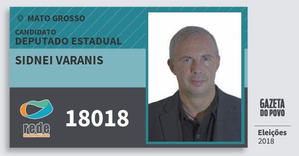 Santinho Sidnei Varanis 18018 (REDE) Deputado Estadual   Mato Grosso   Eleições 2018
