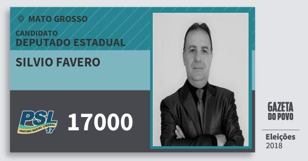 Santinho Silvio Favero 17000 (PSL) Deputado Estadual | Mato Grosso | Eleições 2018