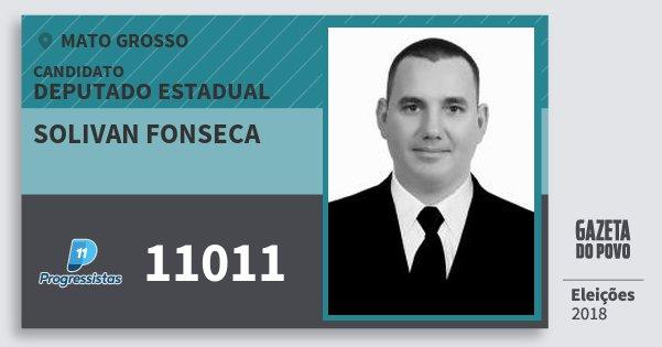 Santinho Solivan Fonseca 11011 (PP) Deputado Estadual   Mato Grosso   Eleições 2018