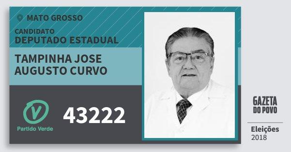 Santinho Tampinha Jose Augusto Curvo 43222 (PV) Deputado Estadual | Mato Grosso | Eleições 2018