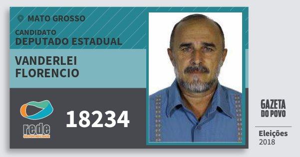 Santinho Vanderlei Florencio 18234 (REDE) Deputado Estadual   Mato Grosso   Eleições 2018