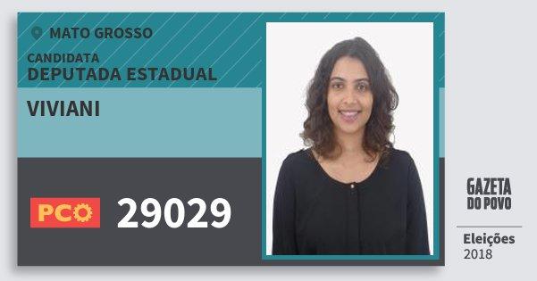 Santinho Viviani 29029 (PCO) Deputada Estadual | Mato Grosso | Eleições 2018