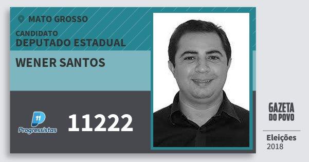 Santinho Wener Santos 11222 (PP) Deputado Estadual | Mato Grosso | Eleições 2018