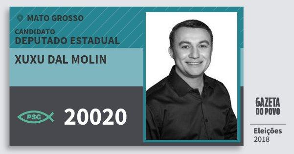 Santinho Xuxu dal Molin 20020 (PSC) Deputado Estadual | Mato Grosso | Eleições 2018