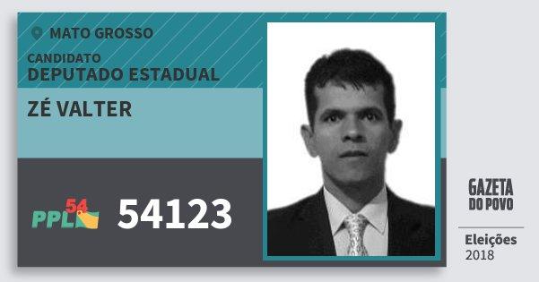 Santinho Zé Valter 54123 (PPL) Deputado Estadual | Mato Grosso | Eleições 2018