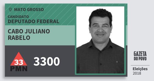 Santinho Cabo Juliano Rabelo 3300 (PMN) Deputado Federal | Mato Grosso | Eleições 2018