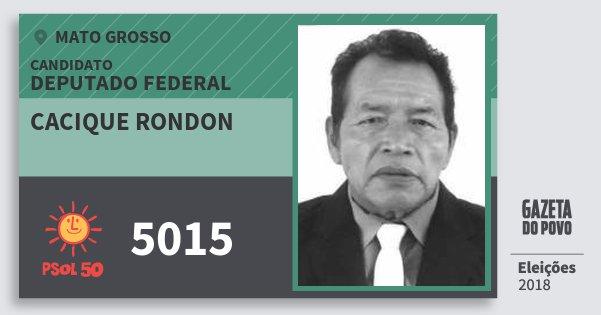 Santinho Cacique Rondon 5015 (PSOL) Deputado Federal | Mato Grosso | Eleições 2018