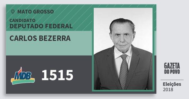 Santinho Carlos Bezerra 1515 (MDB) Deputado Federal | Mato Grosso | Eleições 2018