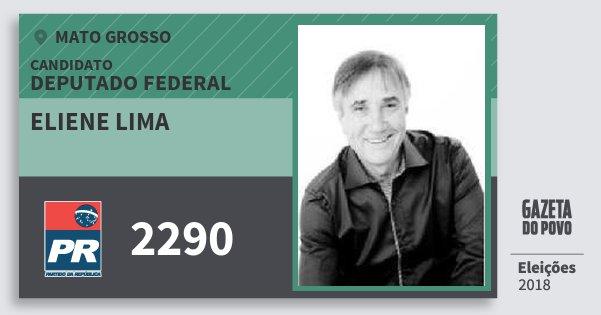 Santinho Eliene Lima 2290 (PR) Deputado Federal | Mato Grosso | Eleições 2018