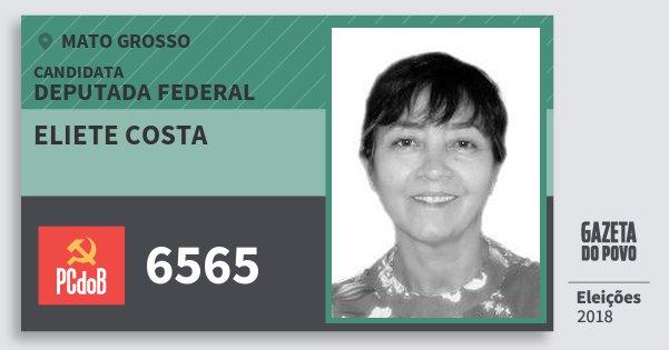 Santinho Eliete Costa 6565 (PC do B) Deputada Federal   Mato Grosso   Eleições 2018
