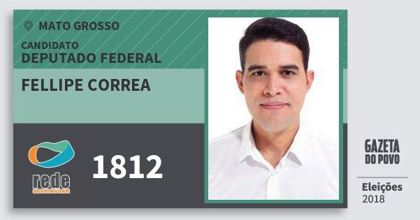 Santinho Fellipe Correa 1812 (REDE) Deputado Federal | Mato Grosso | Eleições 2018