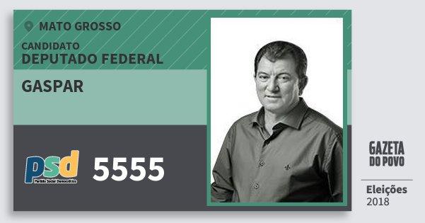 Santinho Gaspar 5555 (PSD) Deputado Federal | Mato Grosso | Eleições 2018