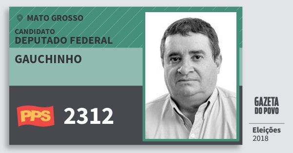 Santinho Gauchinho 2312 (PPS) Deputado Federal | Mato Grosso | Eleições 2018