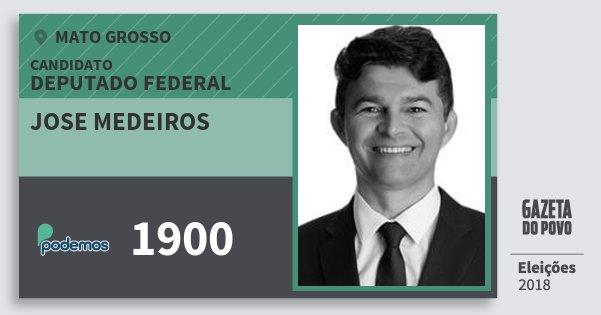 Santinho Jose Medeiros 1900 (PODE) Deputado Federal | Mato Grosso | Eleições 2018