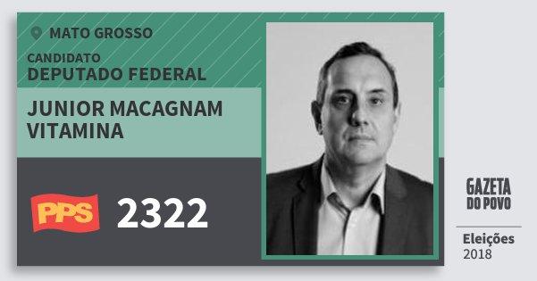 Santinho Junior Macagnam Vitamina 2322 (PPS) Deputado Federal | Mato Grosso | Eleições 2018