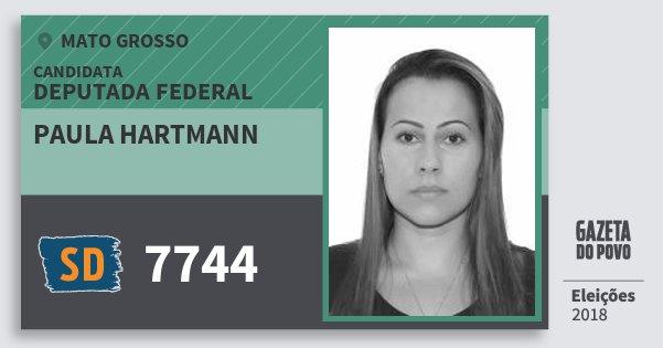 Santinho Paula Hartmann 7744 (SOLIDARIEDADE) Deputada Federal | Mato Grosso | Eleições 2018