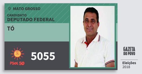 Santinho Tó 5055 (PSOL) Deputado Federal | Mato Grosso | Eleições 2018