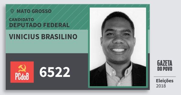 Santinho Vinicius Brasilino 6522 (PC do B) Deputado Federal | Mato Grosso | Eleições 2018