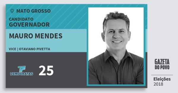 Santinho Mauro Mendes 25 (DEM) Governador | Mato Grosso | Eleições 2018