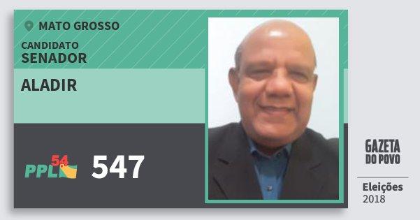 Santinho Aladir 547 (PPL) Senador | Mato Grosso | Eleições 2018