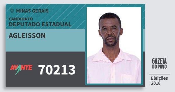 Santinho Agleisson 70213 (AVANTE) Deputado Estadual | Minas Gerais | Eleições 2018