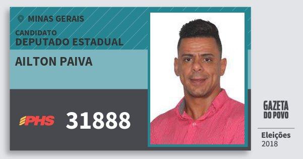 Santinho Ailton Paiva 31888 (PHS) Deputado Estadual | Minas Gerais | Eleições 2018