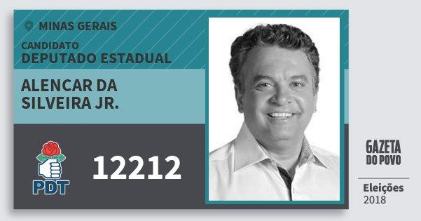 Santinho Alencar da Silveira Jr. 12212 (PDT) Deputado Estadual | Minas Gerais | Eleições 2018